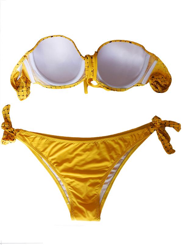 sárga pántnélküli bikini webshop ár  4.990 Ft 2d0d140654